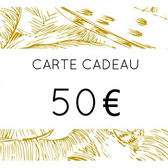CARTE CADEAU 50 euros