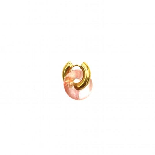 Boucle d'oreilles Donut Rose Unité
